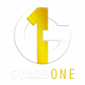 GuardOne Logo with Name - White